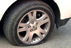 Emergency #1: Tire Blowout - If you experience a blowout DO NOT immediately hit the brakes - use the accelerator to maintain control and allow the car to slow down to a safe speed before turning onto the shoulder.