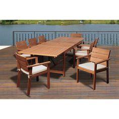 Amazonia Megan 9-piece Dining Wood Set - Overstock™ Shopping - Big Discounts on Amazonia Dining Sets
