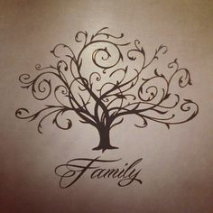Family tree tattoo I LOOOVE IT! Just make it an apple tree and im DONE! Apple doesn't fall far from the tree.