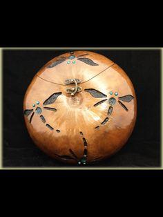 Dragon fly handbag, made from a gourd!
