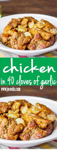 Chicken in 40 Cloves of Garlic