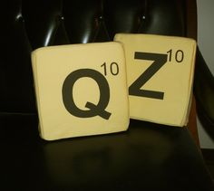 Words with Friends Tile Plush Set, Q and Z I love these!!!  $28.00