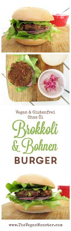 Vegane Glutenfreie Brokkoli Bohnen Burger Bratlinge Ohne Oel Rezept