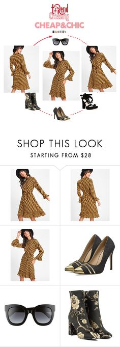 """""""Cheap&Chic dresses"""" by trendcrossing ❤ liked on Polyvore featuring Gucci, Akira, Nasty Gal and yellowdress"""
