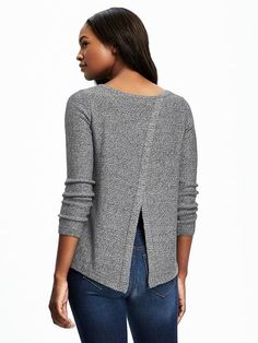 Relaxed Tulip-Back Pullover for Women