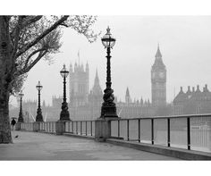 Stroll along the streets of London and take in the captivating sights with the Big Ben And The Houses Of Parliament wall mural. Wall Stickers Murals, Wall Murals, Canvas Home, Canvas Wall Art, Big Ben London, Black And White Wall Art, Black White, Color Black, Canvases