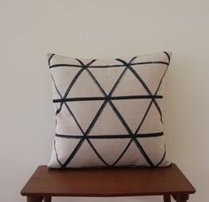 18x 18 Decorative Pillow Pillow Cover Geometric by BeadandReel