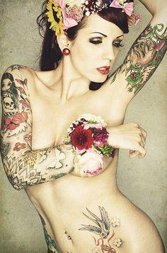 Flowers Arm Tattoo