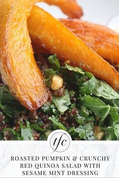 Roasted Pumpkin and Crunchy Red Quinoa Salad Recipe | Healthy Lunch Recipe | Healthy Dinner Idea |