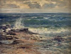 Sea Spray, Carnoustie, Angus de William Bradley Lamond (1857-1924, United Kingdom)