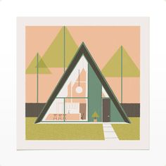 Chris Turnham's Print Shop — 3 Geometric Houses