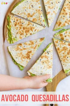 These Avocado Quesadillas are quick and easy lunch perfect for kids.  Keep the recipe as is or choose one of the veggie add in options given.     #kidslunch #lunch #lunchidea #quesadilla #avocadoquesadilla #kidsfood #kidfood via @hlittlefoodies