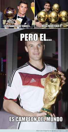 Manuel Neuer 12.1.15 Football Memes, Football Team, Lionel Messi, Real Madrid, Fifa 2014 World Cup, Germany Football, German Boys, World Cup Winners, Cristiano