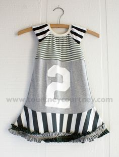 stripes! ruffles! Could totally do this for Hannah's 2nd birthday (different colors for birthday)!