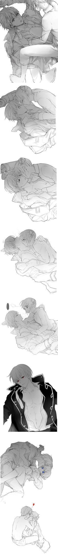 Steamy okikagu. Gintama anime, Kagura and Okita. fanart by LOLI @ pixiv