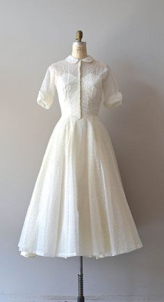 1950s wedding dress / 50s wedding dress / Conte by DearGolden