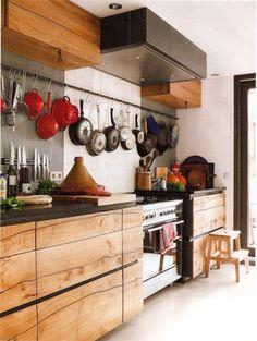 Cuisine en bois clair #cuisine #bois
