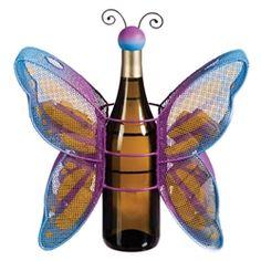 Butterfly Bottle and Cork Holder Cork Holder, Cork Ideas, Wine Bottle Holders, Butterfly, Bow Ties, Butterflies