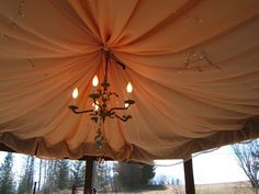 Hometalk :: Gorgeous Gazebo From a Recycled Satellite Dish---Neat!