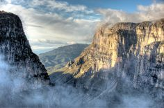 clouds in vikos gorge by Stratis Kolibianakis on 500px