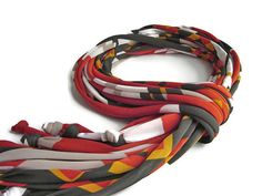 African Scarf T shirt Scarf Fringe Scarf Boho by DesignHappyDay
