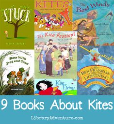 9 Books About Kites from Valarie on The Library Adventure