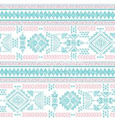 Tribal vintage ethnic seamless pastel pattern vector by transia on VectorStock®