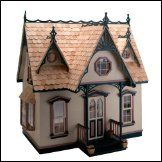 Wooden Dollhouse Kit Greenleaf Orchid Wood Doll House 1 Inch Scale Victorian New Dollhouse Kits, Wooden Dollhouse, Dollhouse Dolls, Dollhouse Miniatures, Haunted Dollhouse, Dollhouse Windows, Victorian Cottage, Victorian Dolls, Victorian Dollhouse
