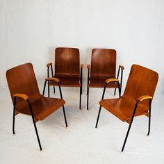 Perlapatrame - meubles - objets - vintage - fauteuils scandinave vintage teck et metal 1950 1960