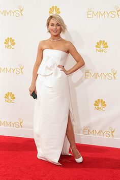 Julianne Hough, in Dsquared², with Chopard jewels and Casadei shoes.