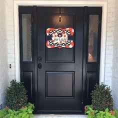 Whimsical Polka Dot and Chevron Auburn Door Hanger