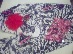 Graffiti Gyspy Headband with Cheetah/Peace Sign by DoubleSRodeoCo, $15.00