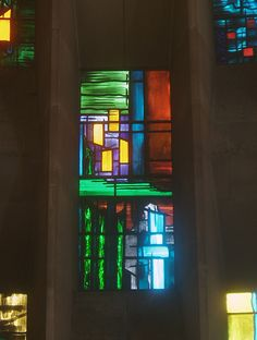 Baptistry Window Panel, Coventry Cathedral | Flickr - Photo Sharing! Modern Stained Glass, Stained Glass Designs, Stained Glass Projects, Coventry Cathedral, Anglican Cathedral, John Piper, Royal College Of Art, Floor To Ceiling Windows, Window Panels