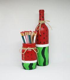 Wine Bottle Art, Painted Wine Bottles, Painted Jars, Painted Wine Glasses, Wine Bottle Crafts, Coffee Creamer Bottles, Wedding Wine Bottles, Pint Mason Jars, Jar Art