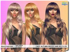 The Sims Resource: Cazy`s Autumn Breeze Hair Recolored by MahoCreations  - Sims 4 Hairs - http://sims4hairs.com/the-sims-resource-cazys-autumn-breeze-hair-recolored-by-mahocreations/