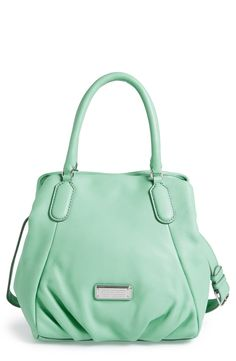 In love with this pretty mint Marc Jacobs shopper.