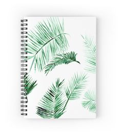 Palm Leaf Notebook minimalist notebook tropical by lake1221
