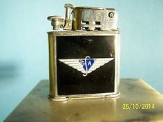 Abdulla - French 1930's Sterling Silver. Commemorated the launch of a new airplane by the French aviation manufacturer whose monogram is strangely similar to Giorgio Armani.