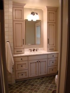Good for our bathroom minus the upper cabinets on the right