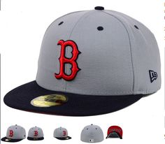754ce89a9b0 MLB Boston Red Sox Grey Fitted Hats Red Sox Hat