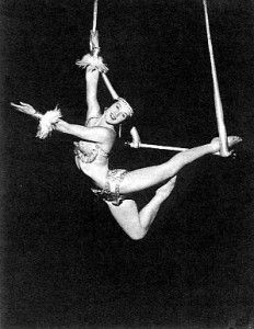circus trapeze artist - extension of overbar mermaid perhaps? ...also makes a good follow on to amazon :)