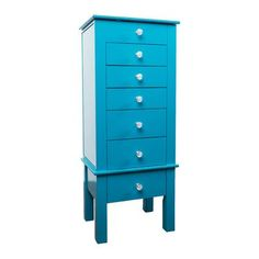 Hives & Honey Hannah Jewelry Armoire Finish: Turquoise
