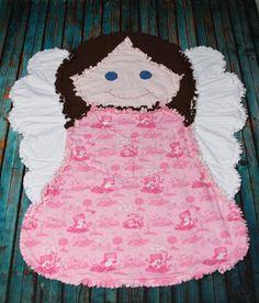 Guardian Angel Rag Quilt by BizzysCorner on Etsy, $30.00