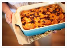 Capirotada! Mexican bread pudding. USE Cheddar! :)  Grandmother would make this right before Easter and she would add jelly beans! happy memories