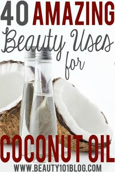 Coconut oil can be used for almost everything and this article has 40 awesome beauty uses to try! Check it out!