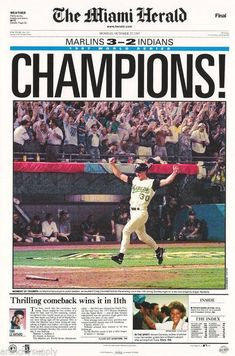 1134cd9cdf6 Florida Marlins World Series Champs 1997 Poster
