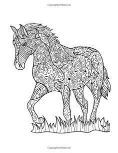 Horse Coloring Book: Coloring Stress Relief Patterns for Adult Relaxation - Best Horse Lover Gift Horse Coloring Pages, Cute Coloring Pages, Printable Adult Coloring Pages, Coloring Books, Horse Quilt, Horse Silhouette, Colorful Drawings, Crafty, Amazon