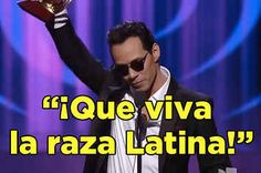 YOU GO MARC WOOT | Marc Anthony Delivered A Powerful Speech About What It's Like To Be Latino