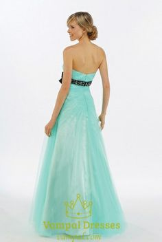 Picture of Blue Sweet 16 Dresses, Sweetheart Prom Dresses, Turquoise Formal Dress