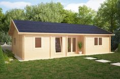 Ferienhaus mit zwei Schlafzimmern Dune 70m2 / 70mm / 12 x 6 m